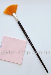 Кисть веерная синтетическая, крупная, №6, Мастеркисти, для переноса листов потали