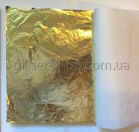 Поталь золото, серебро, размер листа 16см на 16см, каждый лист переложен калькой