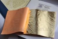 Манетти, поталь, 14*14 см, книга 25 лист. цвет золото 2.0