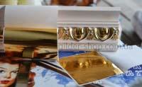 Полиментная поталь-краска, золото 2.5, японская поталь. Зеркальная высокоглянцевая поталь