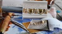 Купить полиментную поталь-краску в Киеве, серебро