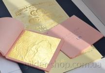 Манетти, сусальное золото свободное, 23к, 91.5*91.5 мм, 60 лист.