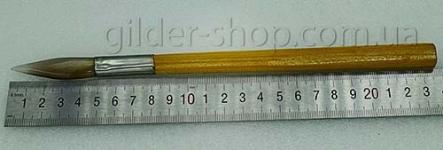 Агатовый зубок для полировки сусального золочения (деревянная ручка)