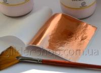 Зеркальная высокогляныевая поталь краска 5 (медь)
